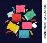 cool vector pillows background. ... | Shutterstock .eps vector #657651532