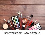 different makeup cosmetics on... | Shutterstock . vector #657659536
