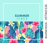 summer exotic and tropic... | Shutterstock .eps vector #657661126