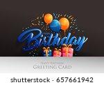 happy birthday typographic... | Shutterstock .eps vector #657661942