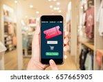 online discount coupon... | Shutterstock . vector #657665905