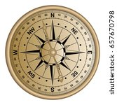 compass or wind rose or star... | Shutterstock .eps vector #657670798