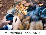 close up woman hand with a...   Shutterstock . vector #657673702