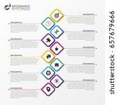 modern infographics process... | Shutterstock .eps vector #657679666