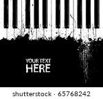 grunge black and white piano... | Shutterstock .eps vector #65768242