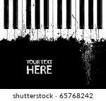 Grunge Black And White Piano...
