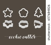 cookie cutter in various style  ... | Shutterstock .eps vector #657684826