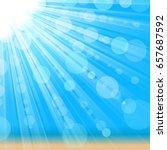 sunny background. bright sun... | Shutterstock .eps vector #657687592