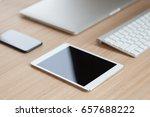 modern communicator device on... | Shutterstock . vector #657688222