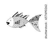 hand drawn zentangle fish for... | Shutterstock .eps vector #657690262