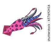 hand drawn doodle ornate kalmar.... | Shutterstock .eps vector #657692416