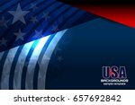 usa american flag background... | Shutterstock .eps vector #657692842