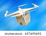 drone flying with a delivery...   Shutterstock . vector #657695692