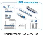 liquefied natural gas... | Shutterstock .eps vector #657697255