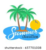 summer vacation handwriting....   Shutterstock .eps vector #657701038