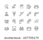 simple set of protest related... | Shutterstock .eps vector #657705175