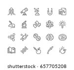 simple set of science related... | Shutterstock .eps vector #657705208