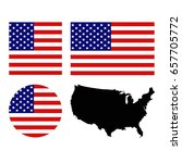 vector illustration of usa flag ... | Shutterstock .eps vector #657705772