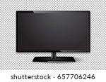 flat tv screen realistic vector ...   Shutterstock .eps vector #657706246