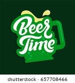 beer time lettering    vector   Shutterstock .eps vector #657708466