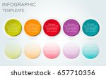vector infographic 3d circle... | Shutterstock .eps vector #657710356