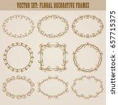 vector set of decorative hand... | Shutterstock .eps vector #657715375
