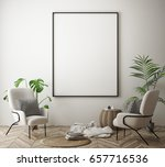 mock up poster frame in hipster ... | Shutterstock . vector #657716536