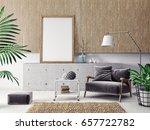 modern scandinavian  interior.  ... | Shutterstock . vector #657722782