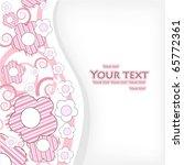 greeting card.   Shutterstock .eps vector #65772361