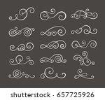 vintage flourish swirls... | Shutterstock .eps vector #657725926