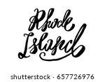 usa state rhode island hand... | Shutterstock .eps vector #657726976