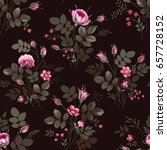 seamless floral pattern with... | Shutterstock .eps vector #657728152