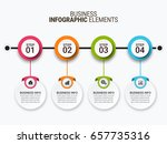 infographic templates in paper... | Shutterstock .eps vector #657735316
