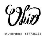 usa state ohio hand lettering... | Shutterstock .eps vector #657736186