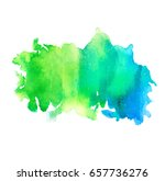colorful abstract watercolor... | Shutterstock .eps vector #657736276