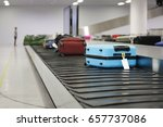 suitcase or luggage on conveyor ... | Shutterstock . vector #657737086