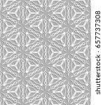 seamless line pattern in... | Shutterstock .eps vector #657737308