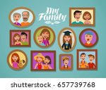 family photos in frames. people ... | Shutterstock .eps vector #657739768
