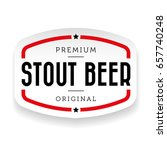 stout beer vintage sign | Shutterstock .eps vector #657740248