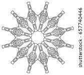 black and white radial ethnic...   Shutterstock .eps vector #657740446