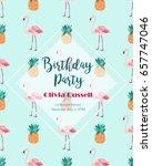 tropical invitation template... | Shutterstock .eps vector #657747046