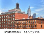 rooftop water tank on a new... | Shutterstock . vector #657749446