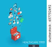 healthcare  integrated 3d web... | Shutterstock .eps vector #657752692