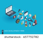 web development integrated 3d... | Shutterstock .eps vector #657752782