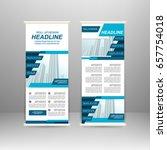 roll up banner stand design....   Shutterstock .eps vector #657754018