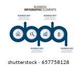 modern infographic process... | Shutterstock .eps vector #657758128