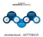 modern infographic process...   Shutterstock .eps vector #657758215