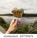 ice cream at brecon beacons ...   Shutterstock . vector #657759676