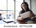 attractive student making... | Shutterstock . vector #657761188