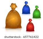 sack from burlap in realistic...   Shutterstock .eps vector #657761422